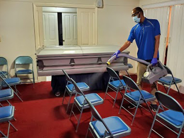 funeral home cleaning